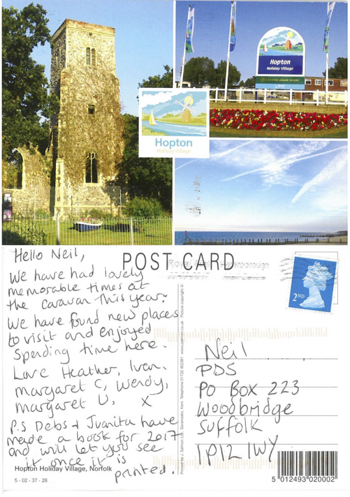 A post card Summer Hopton holiday village stay.